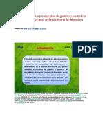 Propuesta Para Mejorar El Plan de Gestión y Control de Documentos en El Área Archivo Técnico de Fibranova