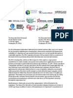 Coalition Letter Urging Congressional Action to Overturn FDA E-Cigarette Rules