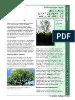 Land Management Willow Tree Factsheet