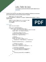 Taller de Java - Guia Clase 1