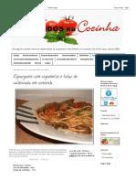 Cinco Sentidos Na Cozinha_ Esparguete Com Cogumelos e Lulas de Caldeirada Em Conserva