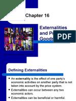 Chapter 16 PRESENTATION Externalities & Public Goods