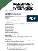 course syllabus gse algebra  spring 2017 updated