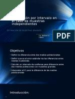 """Estimación Por Intervalo """" El Caso de Muestras Independientes"""""""