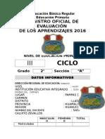 Registro Oficial 2016 Por Bimestre