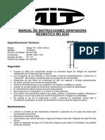 MANUAL DE INSTRUCCIONES GRAPADORA NEUMATICA MG 9240