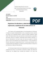 Ensayo Organismos Fiscalizadores y Abministrativos de La Exploracion Del Petroleo en Venezuela
