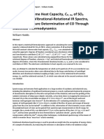 Constant Volume Heat Capacity, CV, m, of SO2 Derived from Vibrational-Rotational IR Spectra, and Temperature Determination of CO Through Statistical Thermodynamics