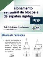 PUC FUN 10 Dim Estrutural Blocos Simples e Sapatas
