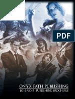 Onyx Path 2016-2017 Publishing Brochure (9895718)