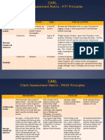 client assessment matrices
