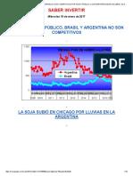 s&p Dice Que Argentina y Brasil No Son Competitivos Por Gasto Público. Los Inversores Dejan Las Lebac. El Dólar Sube