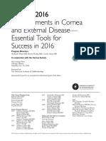 Cornea 2016 Syllabus