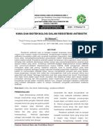 003 Bioteknologi Dan Resistensi Antibiotik Kimia Dan Bioteknologi Dalam Resistensi Antibiotik Sri Mulyani