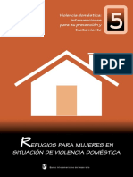 Violencia Doméstica- Intervenciones Para Su Prevención y Tratamiento. Folleto 5- Refugios Para Mujeres en Situación de Violencia Doméstica