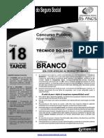 INSS Prova Cargo NM 18 Caderno Branco1