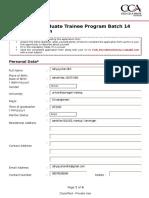 GTP 14 Application Form