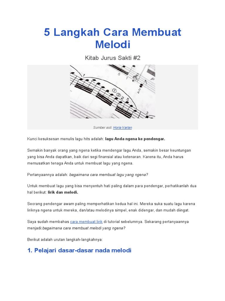 5 Langkah Cara Membuat Melodi Docx