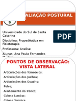 AVALIAÇÃO POSTURAL