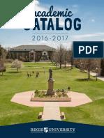 Regis Academic Catalog 2016