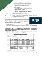 Informe  Estado Financiero de La Obra