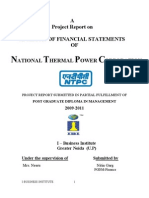 financial statement analysis of ntpc