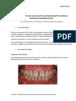 Tratamiento de Un Paciente Con Periodontitis Crónica Moderada Generalizada