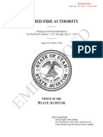 Unified Fire Authority (UFA) State Audit