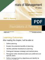 Fundamental of Planning - Robbins