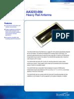 AA3233-004 Heavy Rail Antenna - Catálogo Em Inglês