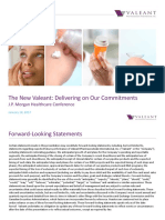 Valeant Pharmaceuticals JPM Presentation 01-10-2017