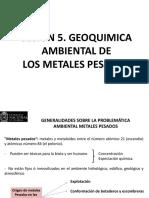 Sesion 5 Geoquimica Ambiental de Los Metales Pesados