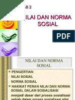 Bab 2 Nilai Dan Norma Sosial