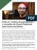 o Conselho de Chuck Palahniuk Para Novos Escritores _ Oxford Comma