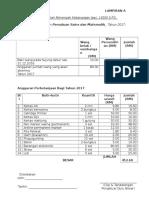 Anggaran Perbelanjaan Kelab 2017