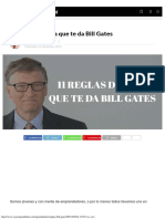 11 Reglas de Vida Que Te Da Bill Gates