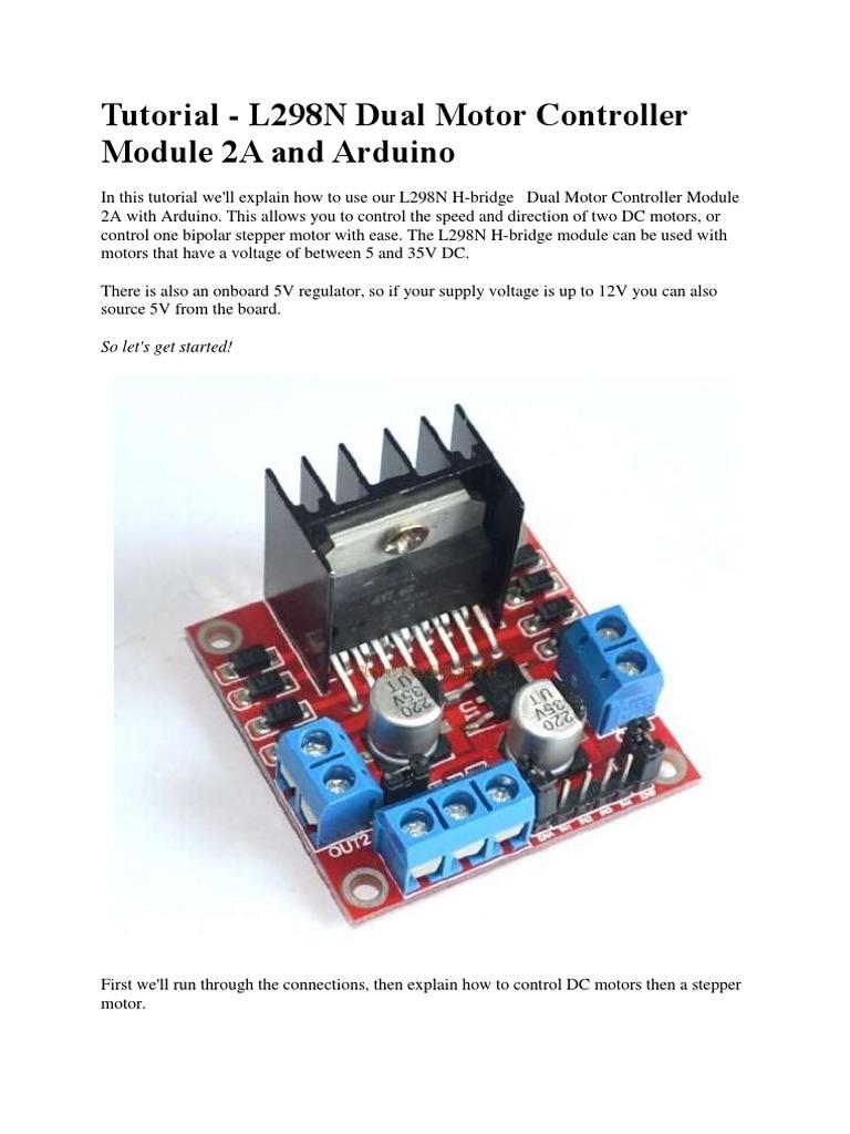 Arduino bipolar stepper motor tutorial impremedia tutorial l298n driver motor baditri Gallery