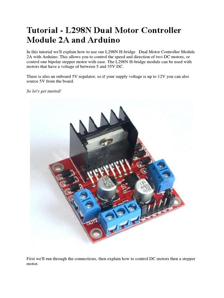 Tutorial L298n Driver Motor Electricity Electronic Engineering Dc 12v Speed Controller Circuit With Explanation