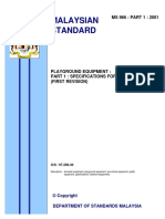 Ms 966 Part 1 2001 Playground Equipment Part 1 Specifications for Materials(First Revision)