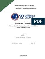 Ensayo de economía para el desarrollo 2009