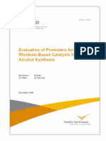 Evaluation of Promoters for Rhodium-Based Catalysts for Mixed Alcohol Synthesis