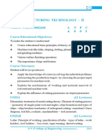 Manufacturing Technology II