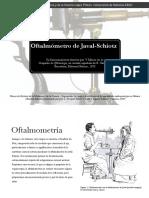 Javal Oftalmometro