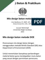 Mix Design Beton DOE