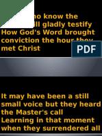God's Word Changes Lives