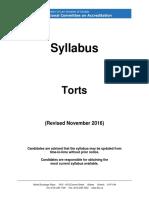 Nca Syl Lab Us Torts Nov 2016
