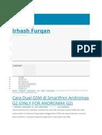 Koneksi GSM Andromax G2