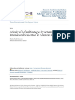 A Study of Refusal Strategies by American and International Student