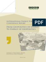 International Energy Forum Conference Report - From Geopolitics of Energy to Energy of Geopolitics