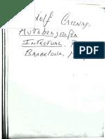 Carnap Autobiografía Intelectual, II